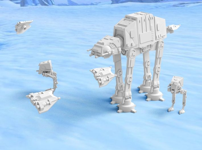 Theme: Battle of Hoth 3d printed
