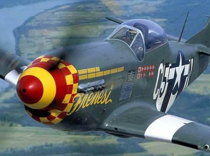 Nameplate P-51D Mustang 3d printed