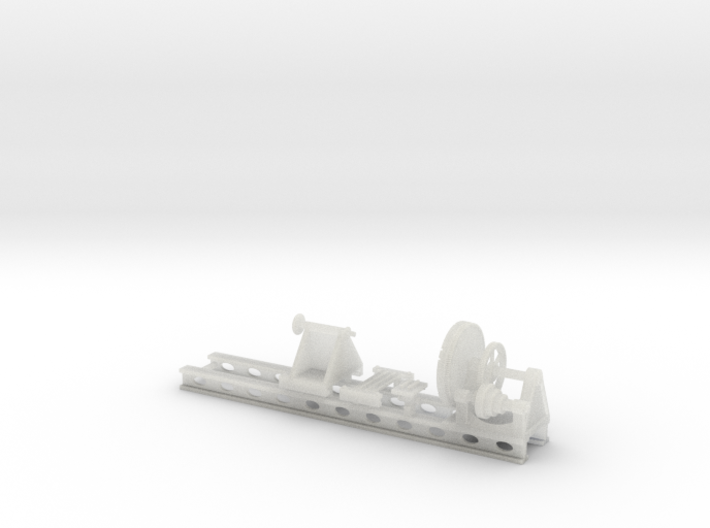Wheel Lathe standard gauge HO Scale 3d printed
