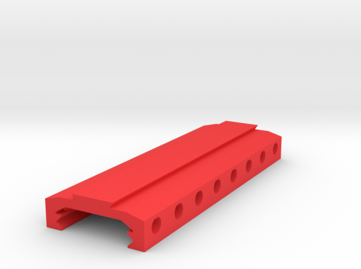 Picatinny to Dovetail Rail Adapter (8 Slots) 3d printed