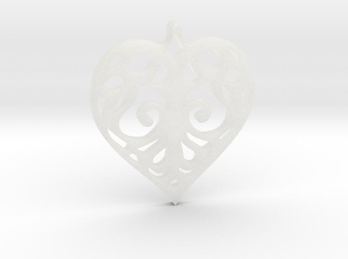 Heart Pendant Tiffanys Enchant Style 3d printed