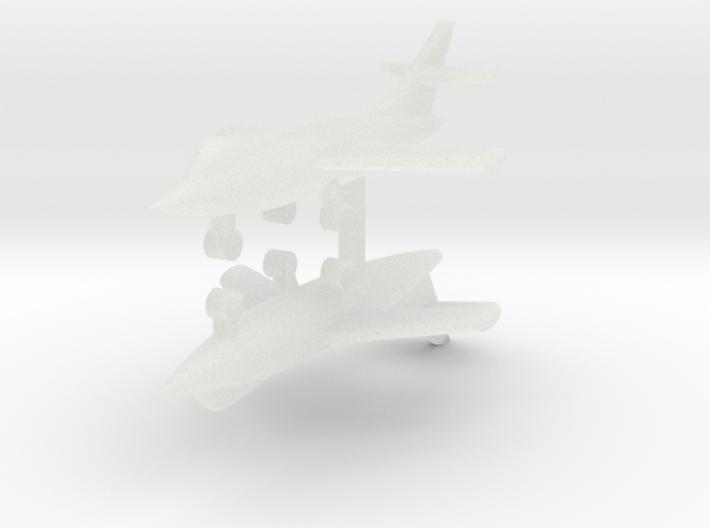 1/285 D-558-2 Skyrocket (x2) 3d printed