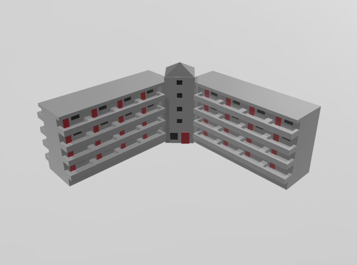 Residential Complex 1/1000 3d printed
