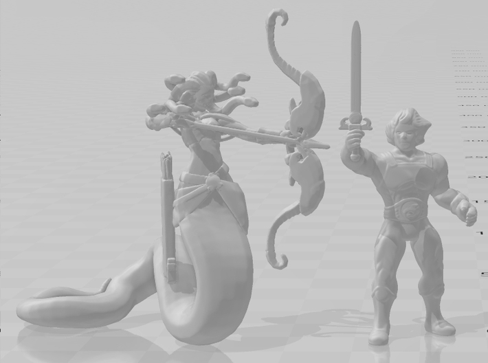 Medusa miniature model fantasy game dnd rpg gorgon 3d printed