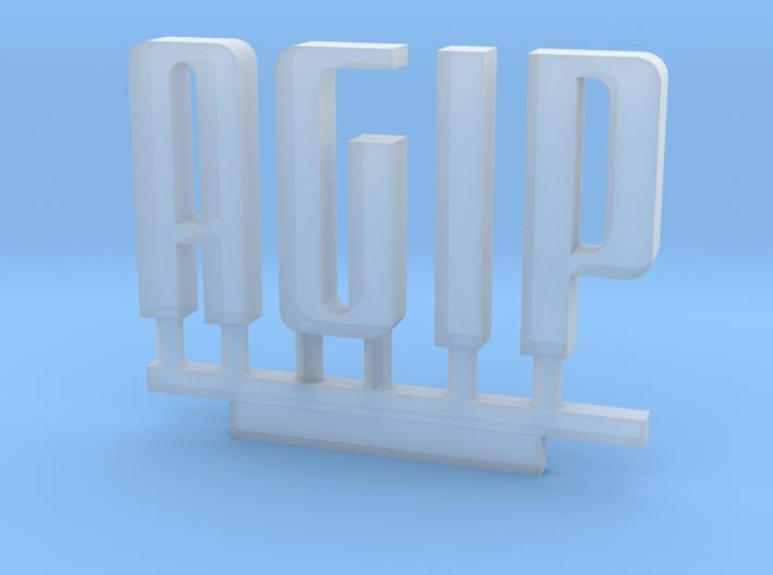 Z Scale Agip Logo 1:220 3d printed