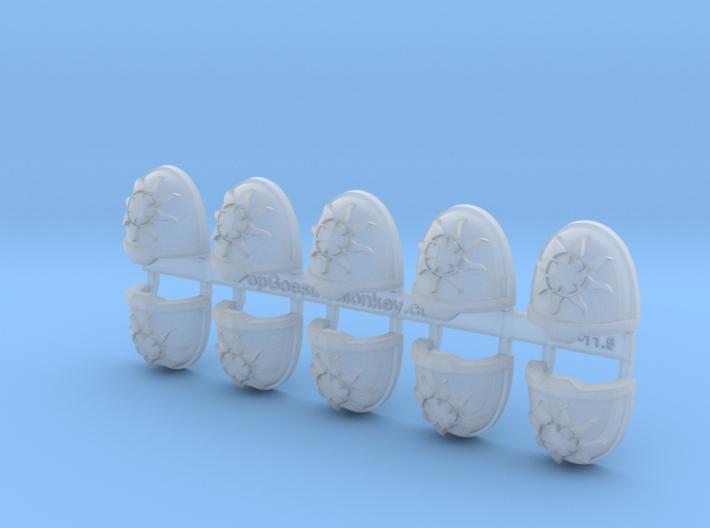 10x Solar Paladins - G:11a Shoulders pads 3d printed