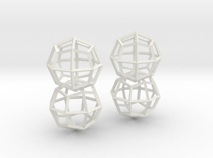 Deltoidal Icositetrahedron Earrings 3d printed