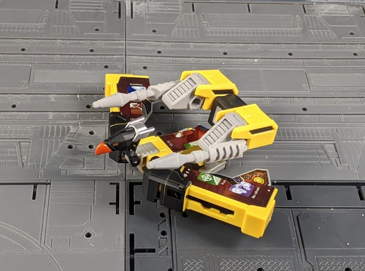 TF Titans Return upgrade for laserbeak buzzsaw 3d printed G1 Style Weapons for Buzzsaw and Laserbeak