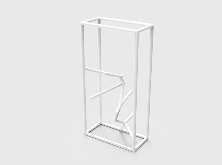 Naked Parallelepiped Sculpture 3d printed