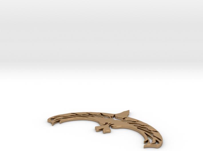 Artdecobird necklace 3d printed