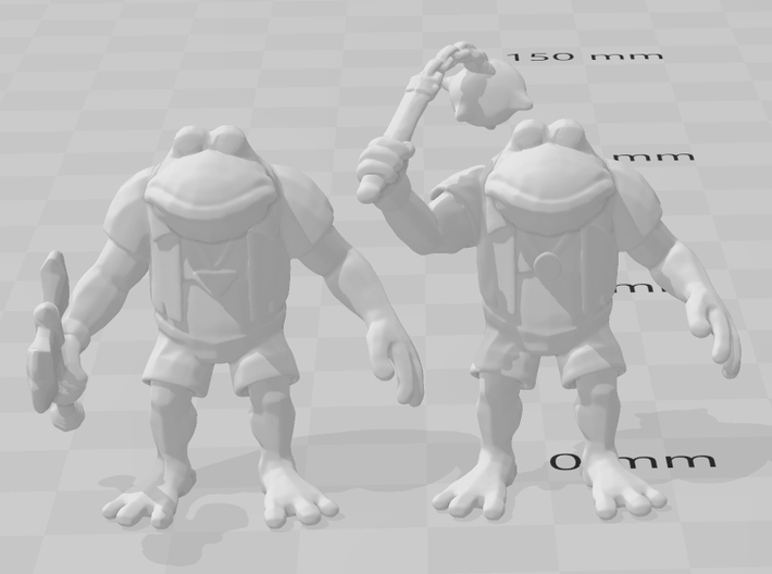Genghis Frog miniature model fantasy games rpg dnd 3d printed