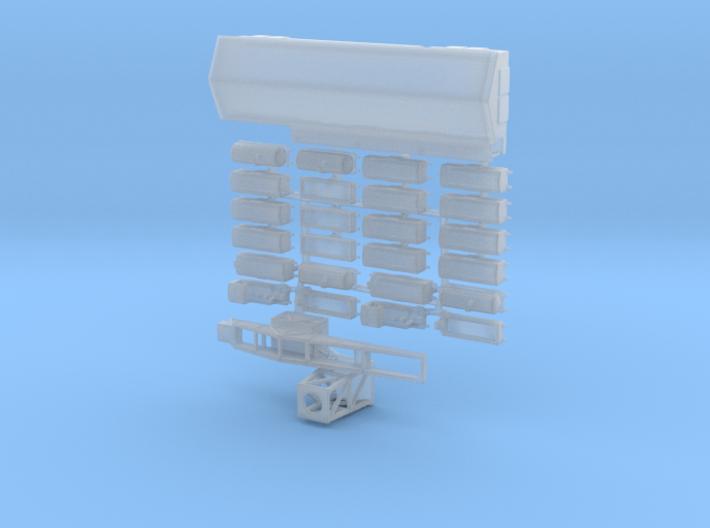 1/1200th scale harbour set (27 pcs) 3d printed