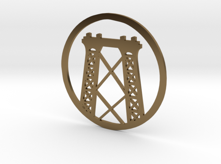 Williamsburg Bridge pendant 3d printed