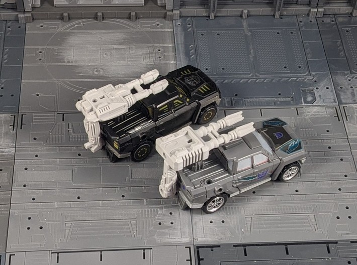 TF Combiner Wars Truck Cannon Adapter Set 3d printed Combined with my some of my car cannon designs