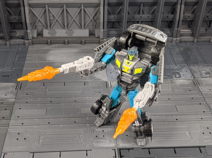 TF Combiner Wars Truck Cannon Adapter Set 3d printed Uses as 2 handheld weapons