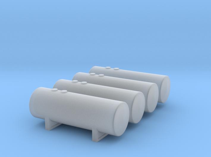 1:400 Fuel Storage Tanks 4pc 3d printed