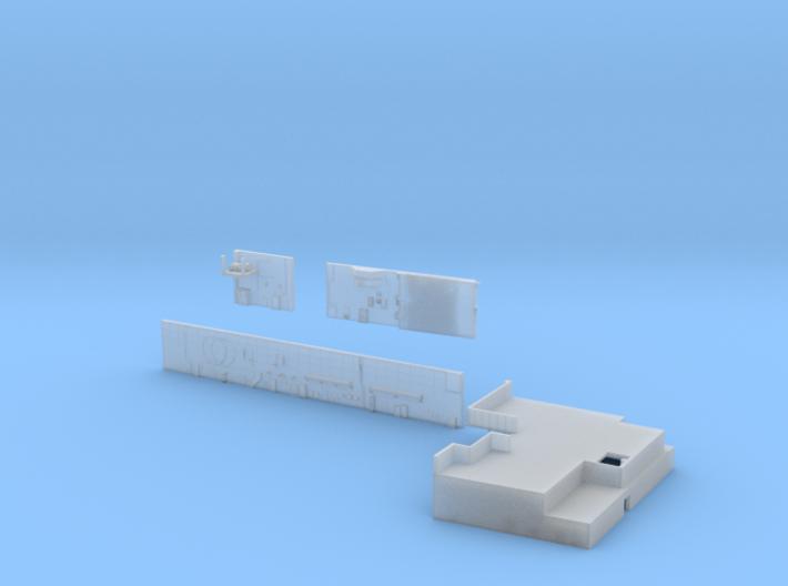 1:350 Scale Nimitz Class Hangar Bay 1 3d printed