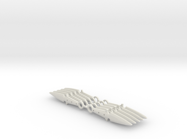 1:6 scale throwing knife x10 3d printed