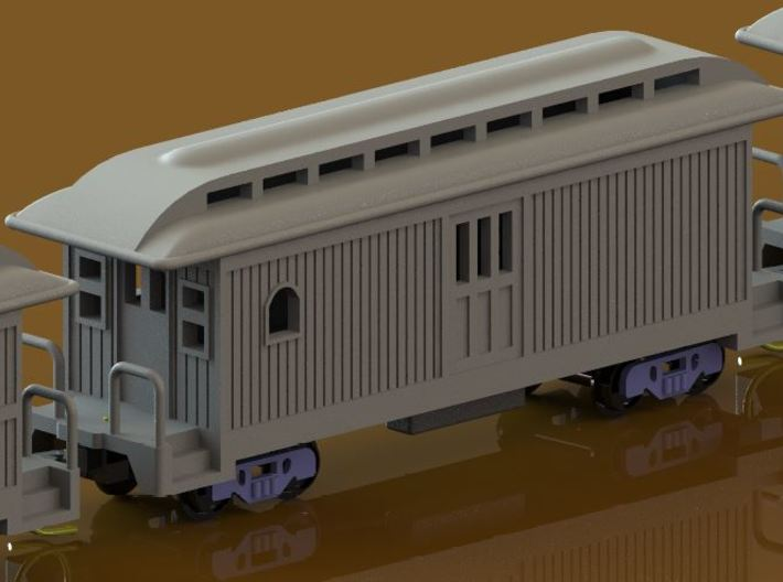 Z Scale Overton Passenger Cars 3d printed Baggage