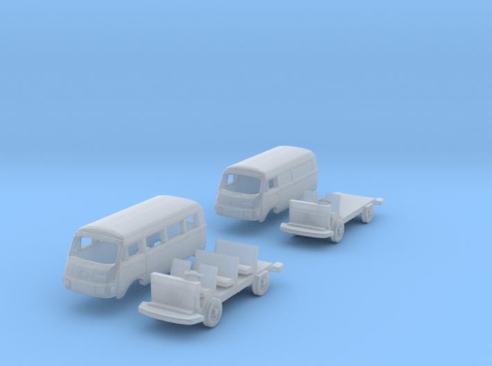 SET 2x Hanomag-Henschel F25 (N 1:160) 3d printed
