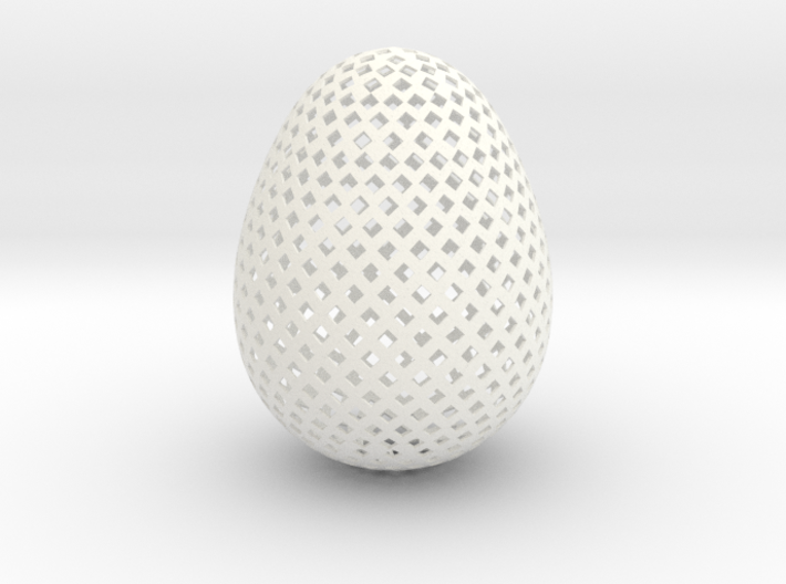 Easter Egg Square 3d printed