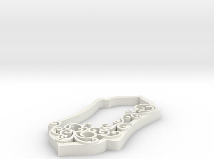 final final swirl pendant 3d printed