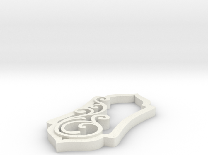 Swirl Pendant One Large Swirl 3d printed