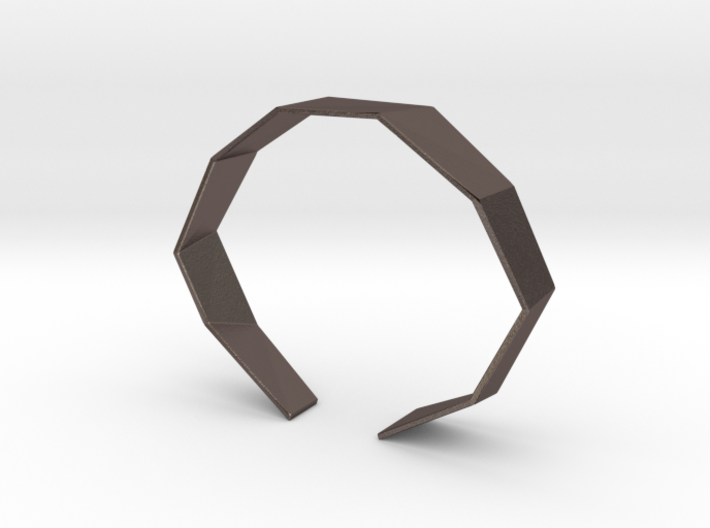 Faceted Bracelet Size M 3d printed