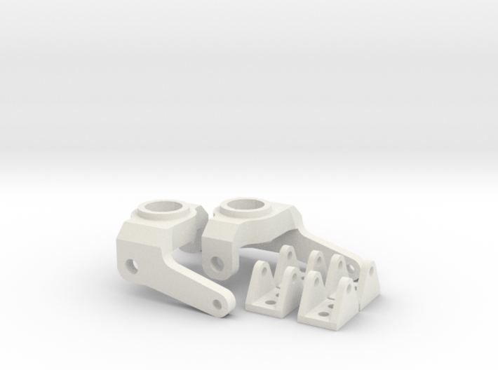 Axial SCX Max-Steering Conversion Kit with 4 shock 3d printed
