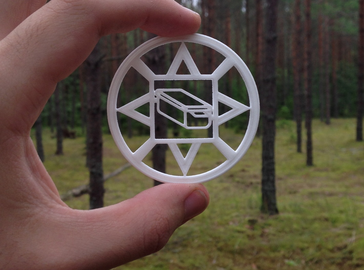 Geocoin traditional geocache 3d printed
