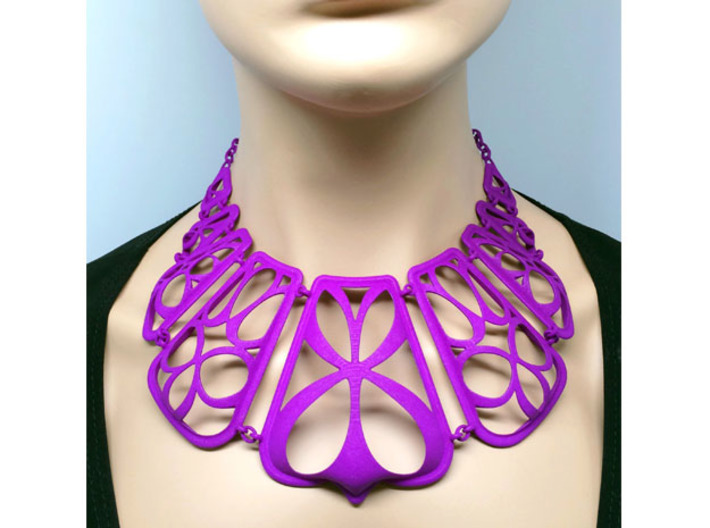 Flow Design Cleopatra Style Statement Necklace 3d printed