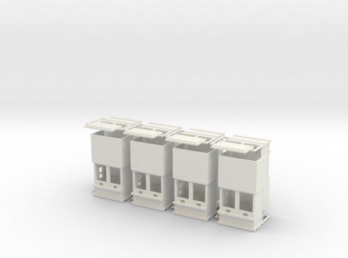 """carnival """"8 ticketboxes""""  1:87 (H0 scale) 3d printed"""
