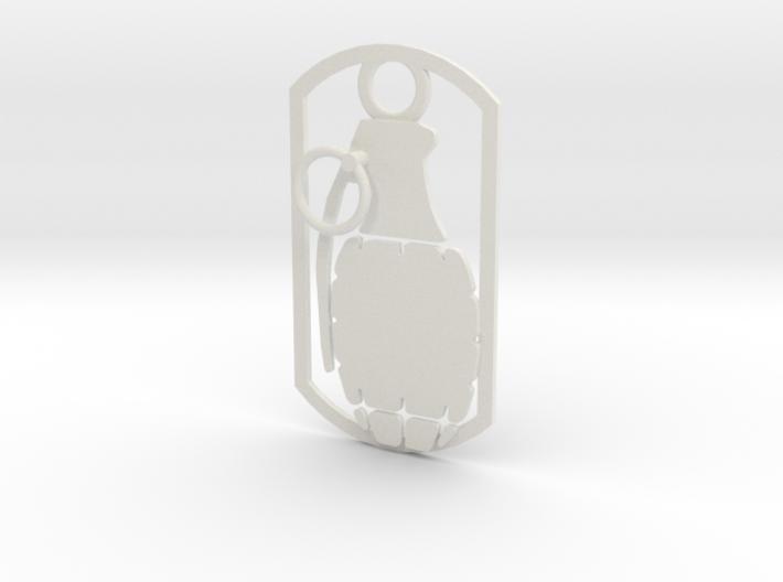 Hand grenade dog tag 3d printed