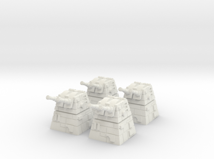 4x Turbolaser Turret 3d printed