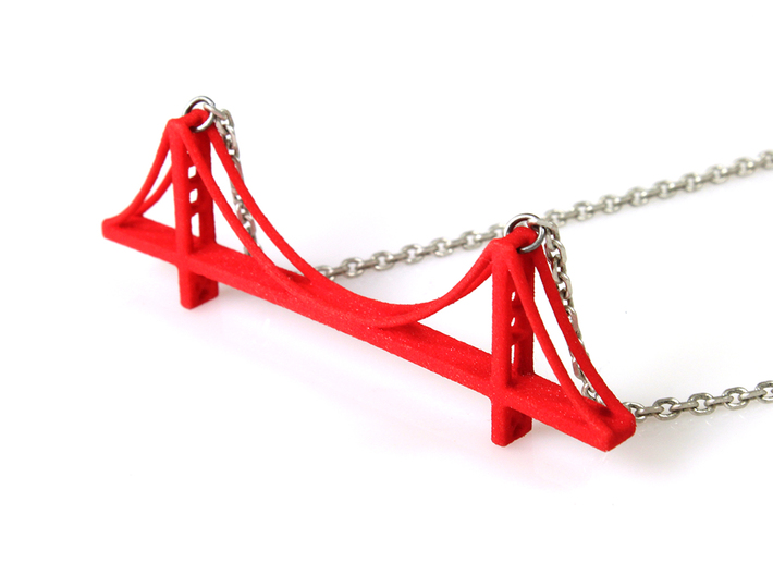 Golden Gate Bridge Pendant 3d printed