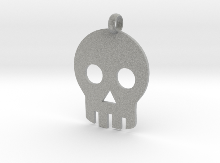 Skull necklace charm 3d printed