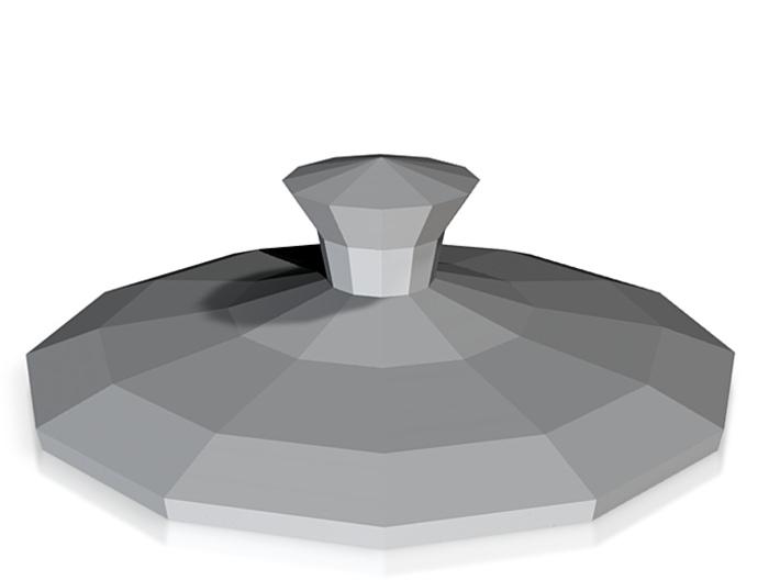 Utanalog Utah Teapot (Lid) 3d printed