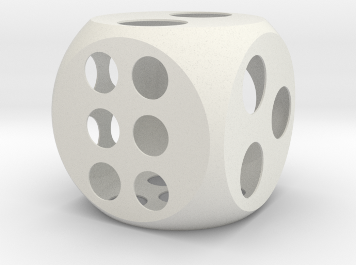 Balanced Dice 4in 3d printed