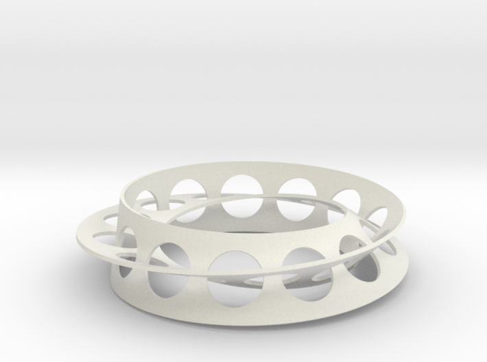 Golden Ratio Moebius Double Strip 3d printed