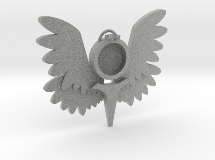 Smaller Winged Pendant m2 3d printed