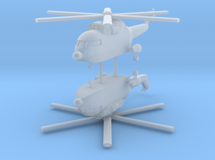 1/700 Super Frelon / PLAAF Z-8 Helicopter (x2) 3d printed