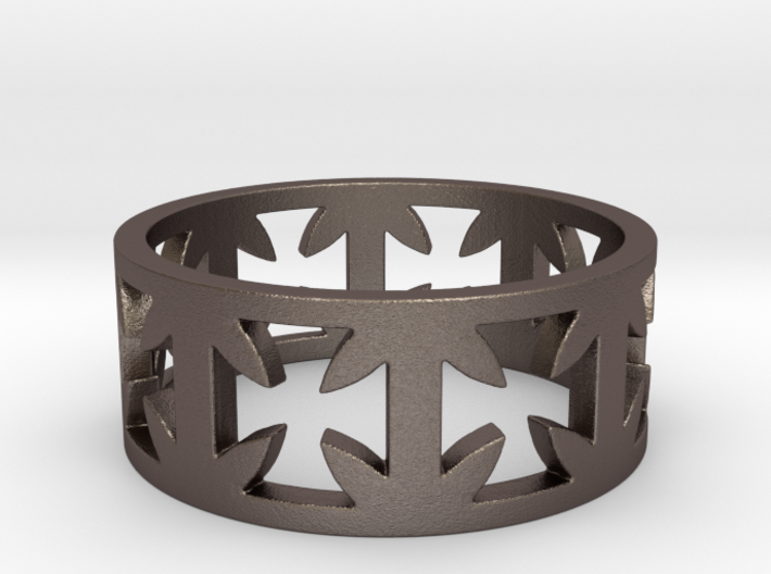 Outlaw Biker Cross Ring Size 13 3d printed