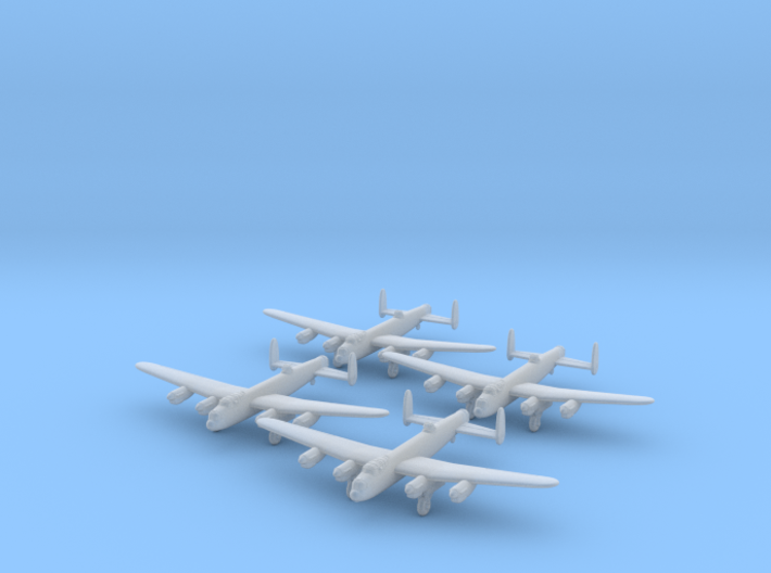 Lancaster-350-wheels-down-x4 3d printed