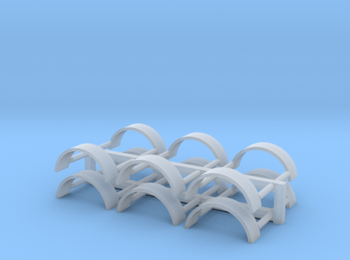 Smooth Tag axle Fender 3d printed