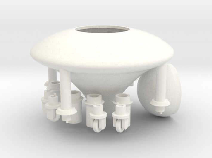 Model of Ancient Astronaut Spaceship of Ezekiel 3d printed
