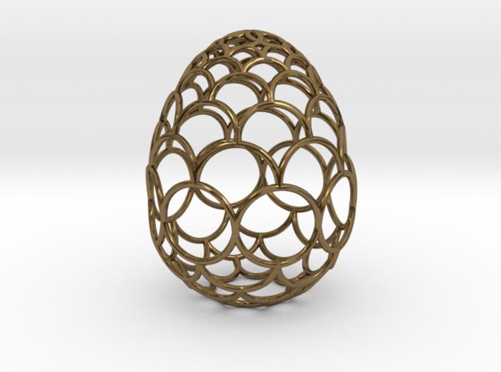 Filigree Egg - 3D Printed in Metal for Easter 3d printed