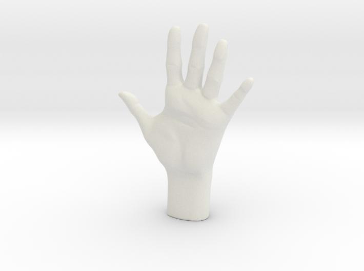 Human Hand, Hollow 3d printed