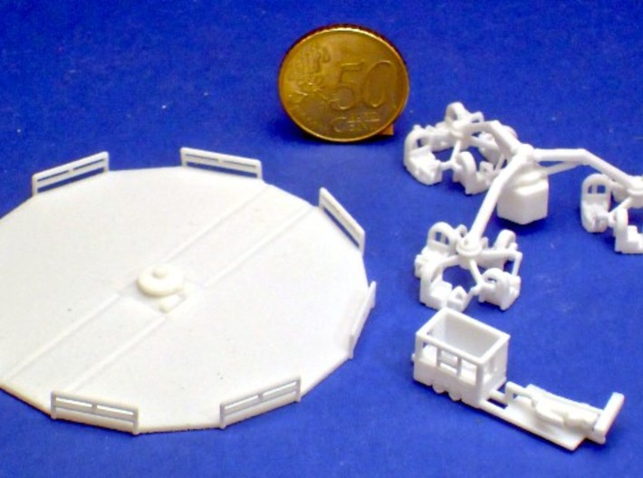 """""""Airboat"""" 1:220 (Z scale) 3d printed"""