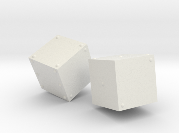 Braille Dice 3d printed
