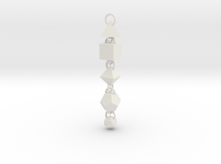 Platonic Solids Dangly Thing 3d printed